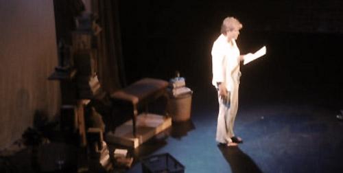 Julia Sweeney in rehearsal