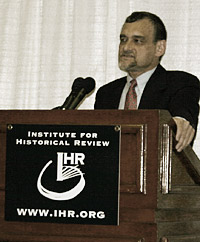 photo: IHR Director Mark Weber lecturing.