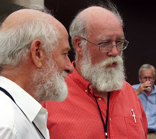 photo of Peter Grant and Daniel Dennett