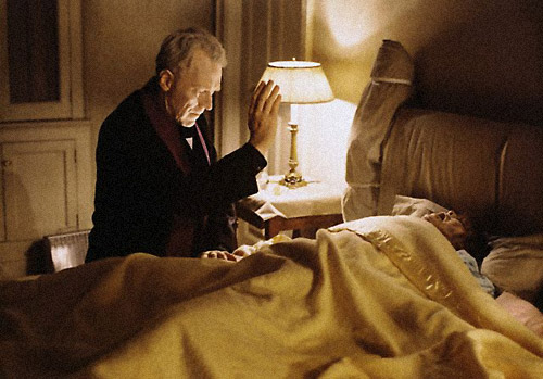 actors Max von Syndow and Linda Blair in The Exorcist