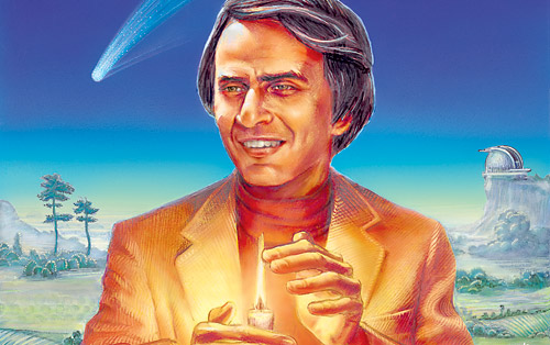 painting of Carl Sagan