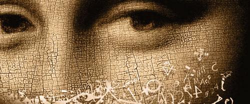 The Da Vinci Code, close-up of book cover