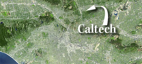 satellite<br /> map of California, detail