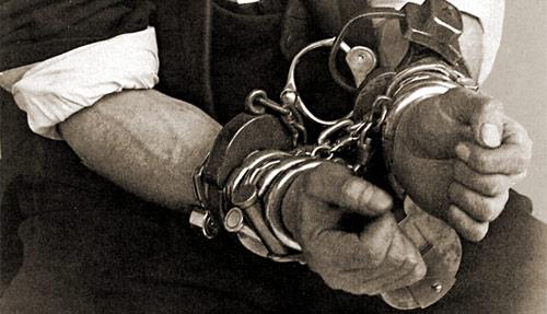 Houdini in handcuffs