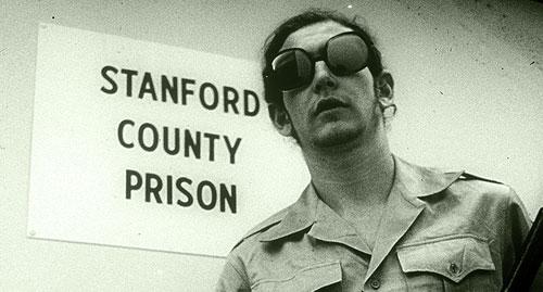Philip Zimbardo, with slide of Angel & Devil experiment