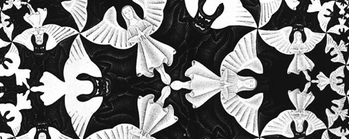 MC Escher's illusion of angels and devils