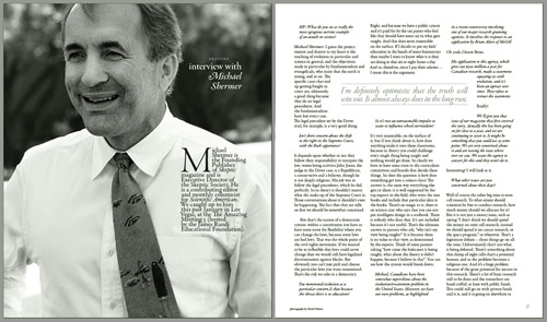 Humanist Perspectives interior spread