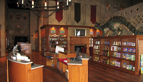 The Creation Museum medieval-themed bookstore with dragon