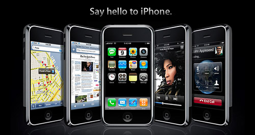 screenshot of iPhones from Apple.com