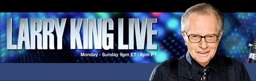 screenshot from Larry King Live website