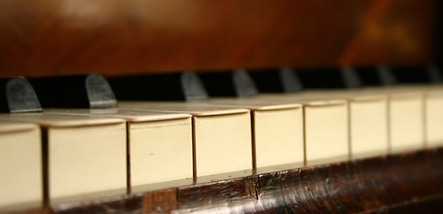 antique piano keys (detail)