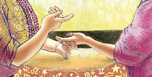 psychic reading illustration
