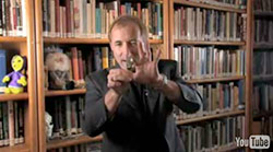 Michael Shermer demonstrating spoonbending