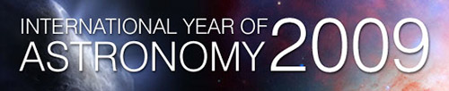 International Year of Astronomy website banner