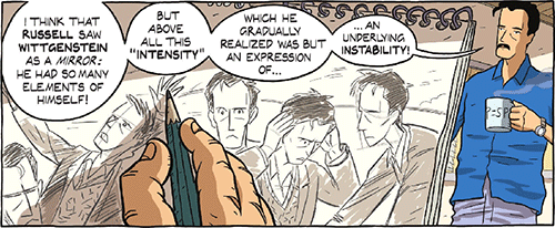 I think that Russell saw Wittgenstein as a mirror: he had so many elements fo himself.