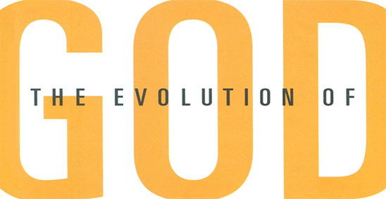 The Evolution of God (detail of book cover, compressed vertically)