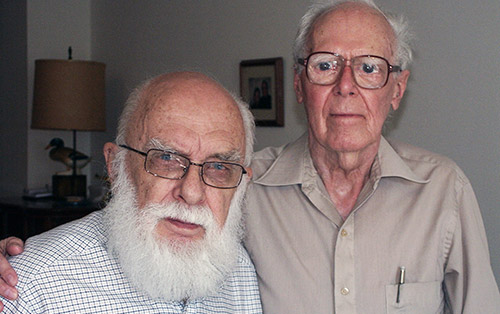 James Randi (left) and Martin Gardner (photo courtesy of James Randi)