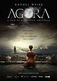 Film poster for Agora. Copyright © 2010 copyright Newmarket Films. All Rights Reserved.