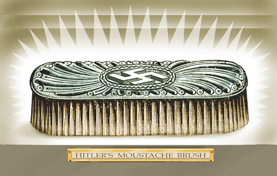 Hitler's moustache brush illustration by Pat Linse