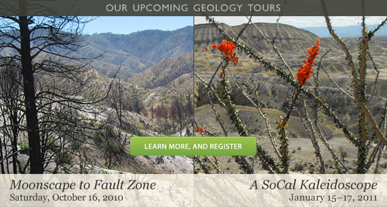 The Skeptics Society presents two new geology tours
