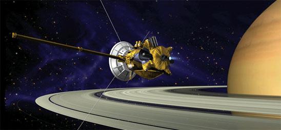 Cassini Saturn image