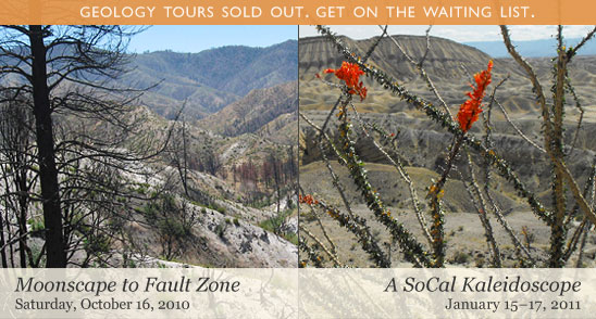Geology tours are sold out. A waiting list is being taken.