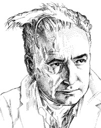 Wilhelm Reich illustration by Pat Linse (copyright 1994)