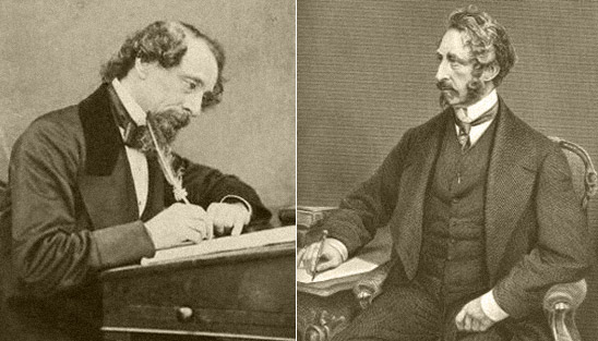 Charles Dickens and Edward Bulwer-Lytton