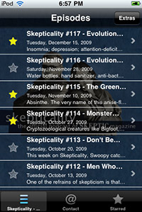 screenshot from Skepticality app version 1.7.3