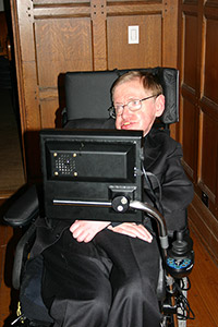 Stephen Hawking in his computer chair