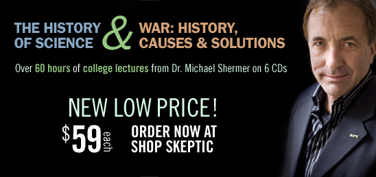 Dr. Michael Shermer's college lectures available at Shop SKeptic for $59 each