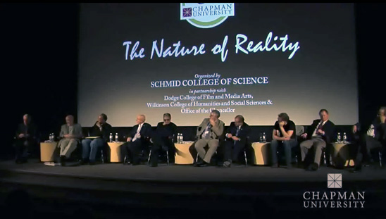 screenshot from The Nature of Reality video by Chapman University