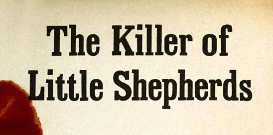 The Killer of Little Shepherds (detail of book cover)