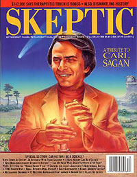 Carl Sagan on the cover of Skeptic magazine