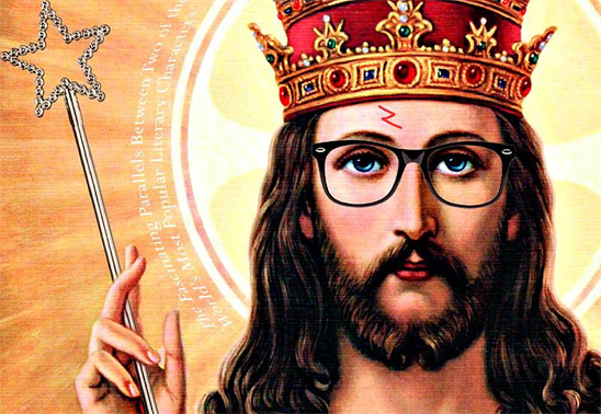 Jesus Potter Harry Christ (detail of book cover)