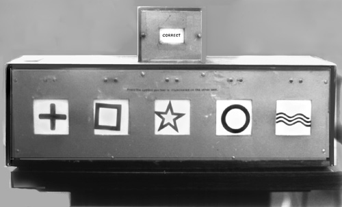 A.R.E. ESP testing apparatus