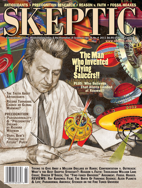 Skeptic magazine volume 16, number 4 (cover)