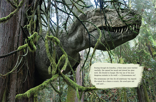 Two-page spread from Ankyolsaur Attack!
