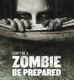 Zombie Poster from Centre for Disease Control (CDC) campaign