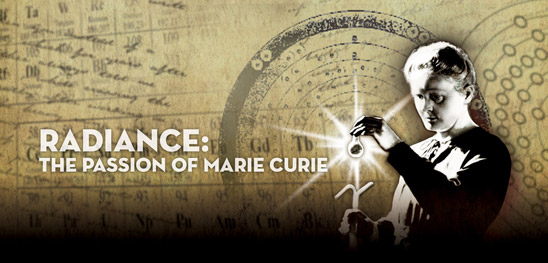 Radiance: The Passion of Marie Curie (screenshot from geffenplayhouse.com)