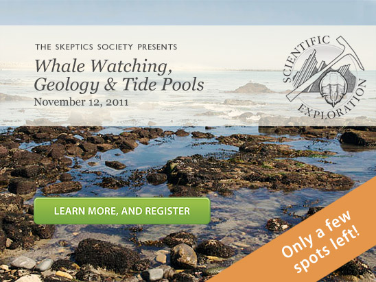 The Skeptics Society Presents: Whale Watching, Geology and Tide Pools (November 12, 2011). Only a few spots left!