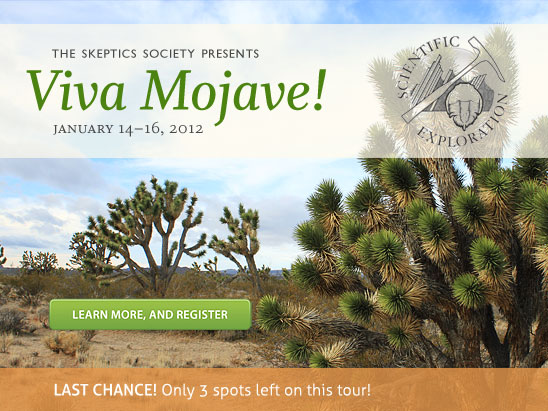 Only 3 spots left for Viva Mojave! (January 14-16, 2012)