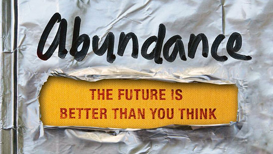 Abundance: The Future is Better Than You Think (detail of cover)
