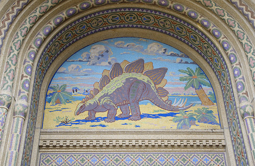 Reptile House Stegosaurus Arch (copyrght Smithsonian National Zoo)