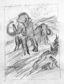 Rough Knight sketch (copyrght Rhoda Knight Kalt)