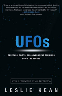 UFOs: Generals, Pilots, and Government Officials Go on the Record (book cover)