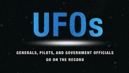 UFOs: Generals, Pilots, and Government Officials Go on the Record (detail of book cover)