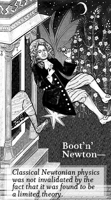 Boot'n' Newton (illustration by Pat Linse)