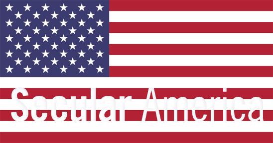 Secular America on US flag