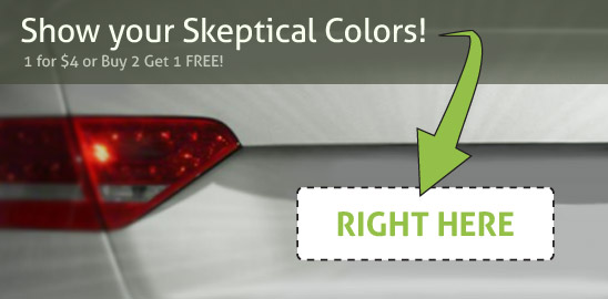 Show Your Skeptical Colors! Get the new SKEPTIC bumper sticker
